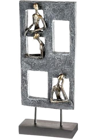 Casablanca by Gilde Dekofigur »Skulptur Lookout, grau/schwarz«, Dekoobjekt, Höhe 40, 3... kaufen