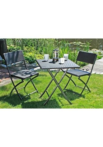 GARDEN PLEASURE Gartenmöbelset »VENTANA«, 3 - tlg., 2 Stühle, Tisch, klappbar, Kunststoff kaufen