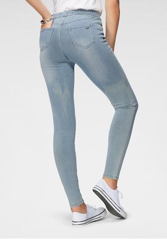 Arizona Jogg Pants »High Waist«, in Denim-Optik kaufen