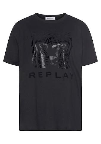 Replay T-Shirt, mit grossem Animal-Print kaufen