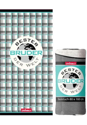 """Badetuch """"Bester Bruder"""" kaufen"""