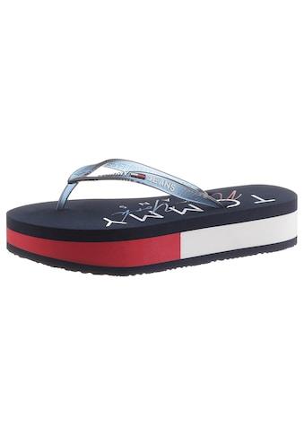 Tommy Jeans Dianette »RUBBER THONG MID BEACH SANDAL«, mit Logoschriftzug auf der... kaufen