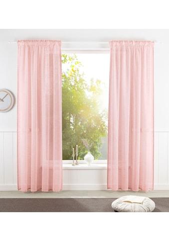 GOODproduct Vorhang »Lilja«, nachhaltig, Leinen Optik, halbtransparent, monochrom kaufen