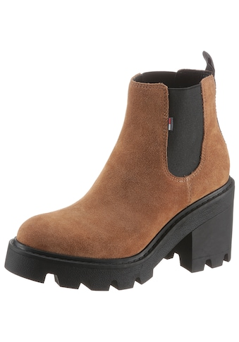 TOMMY JEANS Chelseaboots »ESSENTIAL SUEDE MID HEEL BOOT« kaufen