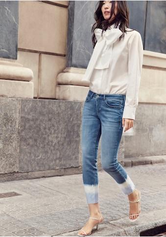 MAC 7/8-Jeans »Dream Skinny Finges«, Besondere Dip-Wash-Optik am Saum kaufen