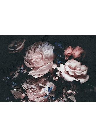 CONSALNET Papiertapete »Rosafarbige Blumen«, in verschiedenen Grössen kaufen