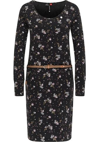 Ragwear Jerseykleid »MONTANA«, (2 tlg., mit abnehmbarem Gürtel), mit minimalistischem Flower-Allover-Print kaufen