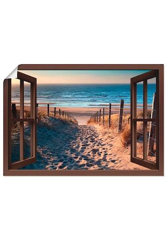Artland Wandbild »Fensterblick Weg zum Nordseestrand«, Strand, (1 St.), in vielen... kaufen