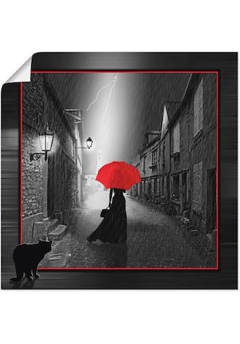 Artland Wandbild »Die Frau mit dem roten Schirm 2« kaufen