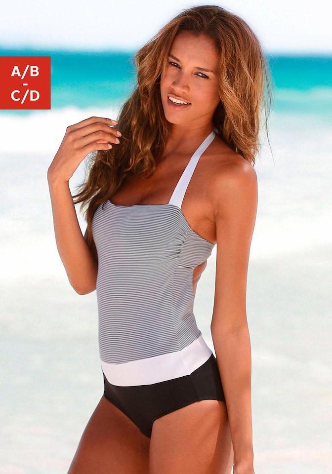 LASCANA Bandeau-Badeanzug mit filigranen Streifen online kaufen ... fe0f1f6acb
