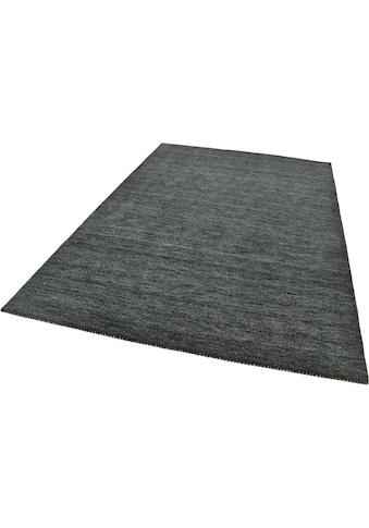 Wollteppich, »Haltu Uni«, THEKO, rechteckig, Höhe 17 mm, handgewebt kaufen