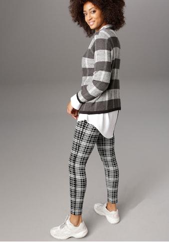 Aniston SELECTED Leggings, im modischen Jacquard kaufen