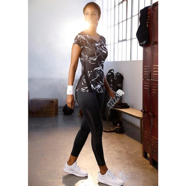 LASCANA ACTIVE Sneakersocken Black Marble (Flasche, 3 Paar)