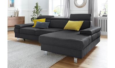 TRENDMANUFAKTUR Ecksofa, Sitztiefen - und Kopfteilverstellung kaufen
