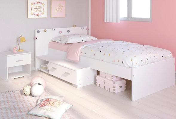 weißes Jugendbett