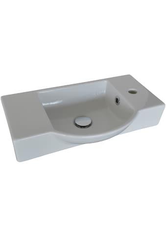 FACKELMANN Waschbecken »Gäste - WC«, Breite 54,5 cm, für Gäste - WC, Keramik kaufen