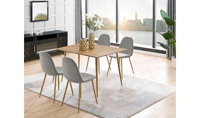 Leonique Esstisch »Eadwine«, Tischplatte aus pflegeleitem MDF, Gestell in Metall kaufen