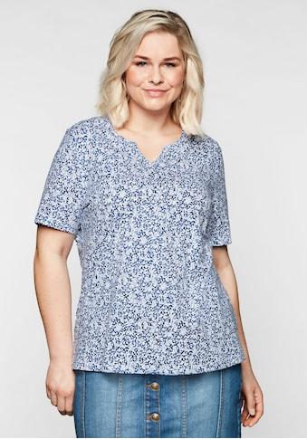 Sheego T-Shirt, mit floralem Alloverprint und leichter A-Linie kaufen