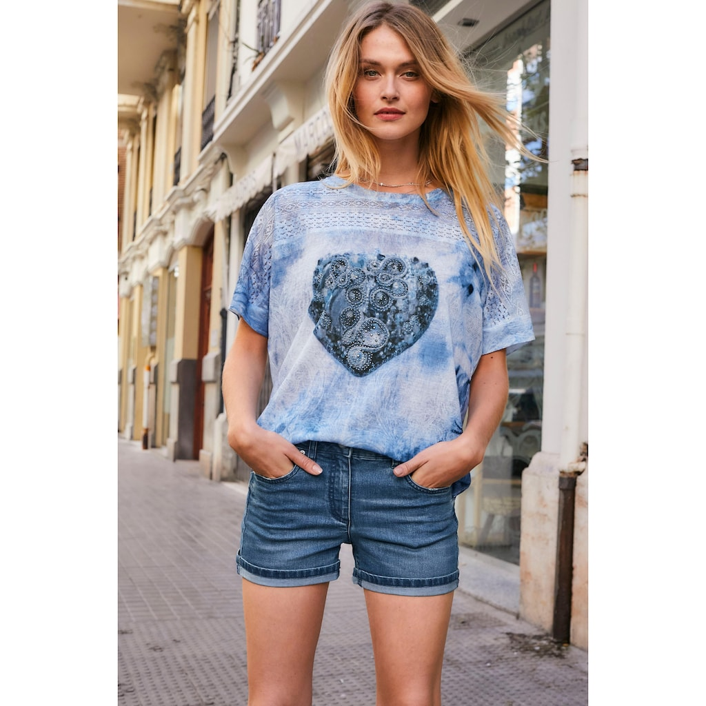 Aniston CASUAL T-Shirt, mit Lochstickerei