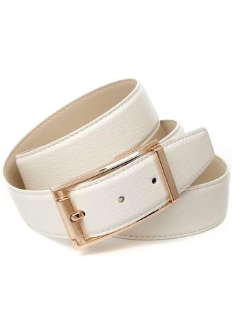Anthoni Crown Ledergürtel, im klassischen Design, schlichte elegante Gürtelschliesse kaufen