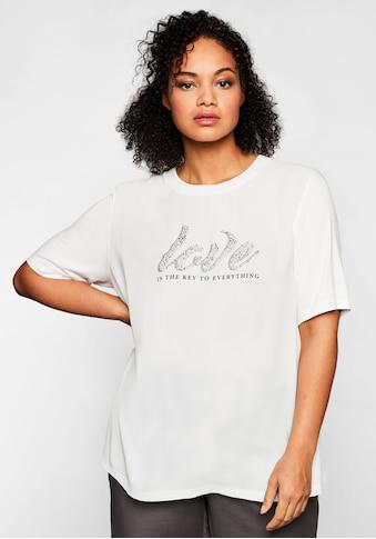 Sheego T-Shirt, mit Glitzersteinen kaufen