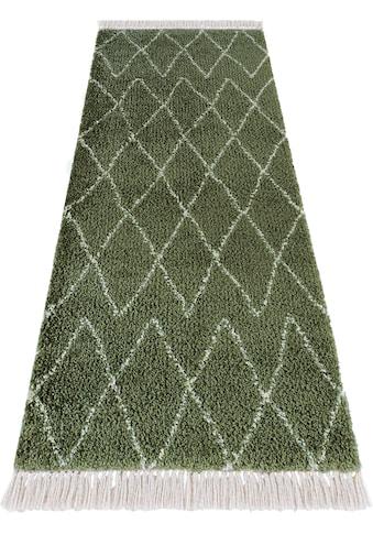 Hochflor - Läufer, »Jade«, MINT RUGS, rechteckig, Höhe 35 mm, maschinell gewebt kaufen