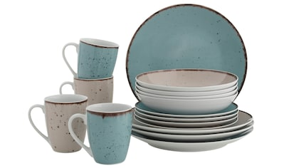 Home affaire Kombiservice »Locarno«, (Set, 16 tlg.), Geschirr-Set in 2 Farben kaufen