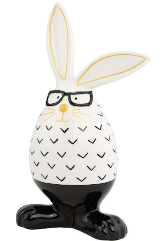 Osterhase, in Ei-Form mit Brille, Höhe ca. 22,5 cm kaufen