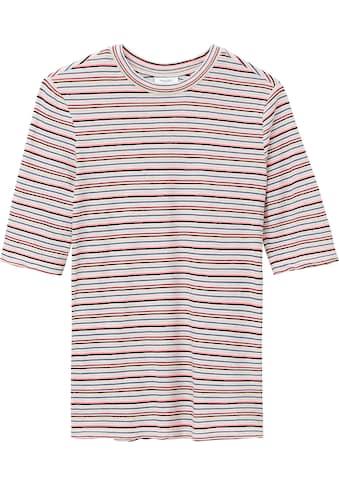 Marc O'Polo DENIM T-Shirt, mit halbem schlanken Ärmel im Ringel-Look kaufen