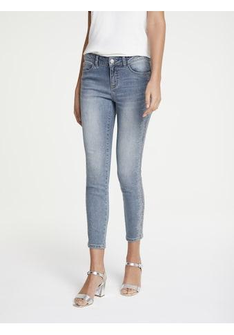 LINEA TESINI by Heine Skinny-fit-Jeans, mit Schmucksteinchen kaufen