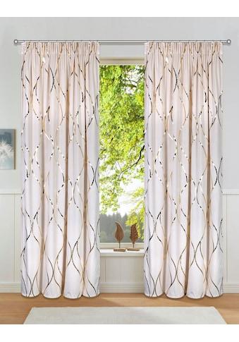 Leonique Vorhang »Mika«, blickdicht, glatte samtige Oberfläche mit Foliendruck kaufen
