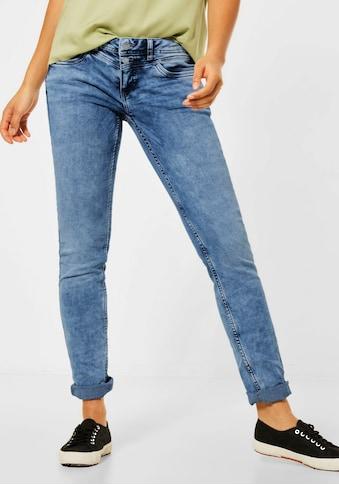 STREET ONE Slim-fit-Jeans, mit doppeltem Knopfverschluss kaufen