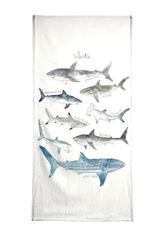 """Strandtuch """"Sharks"""", Juniqe kaufen"""