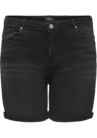 ONLY CARMAKOMA Jeansshorts, mit leichten Abriebeffekten kaufen