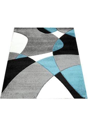 Paco Home Teppich »Diamond 664«, rechteckig, 18 mm Höhe, 3D-Design, Kurzflor mit geometrischem Muster, Wohnzimmer kaufen