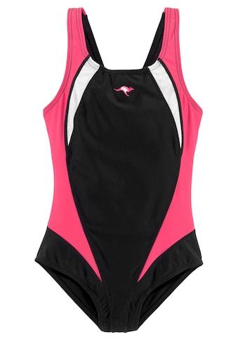 KangaROOS Badeanzug, mit sportlichen Kontrasteinsätzen kaufen