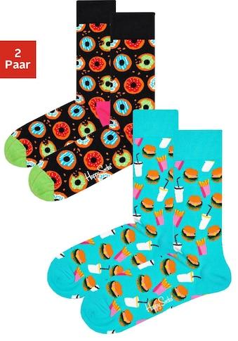 Happy Socks Socken, (2 Paar), mit knalligen Fastfood-Motiven kaufen