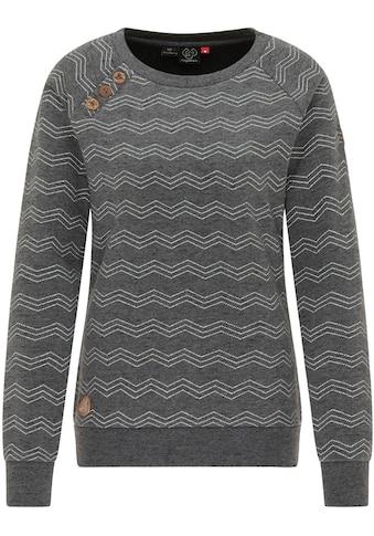 Ragwear Sweater »DARIA ZIG ZAG«, vegan hergestellt und mit spirituellem Knopfmotiv wie der fünfblättrigen Venusblume kaufen