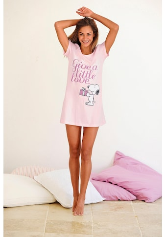 Peanuts Sleepshirt, mit Snoopy-Print in Minilänge kaufen