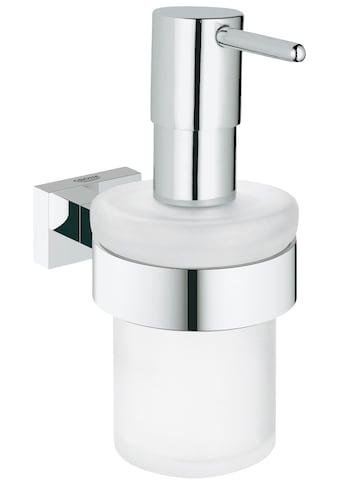GROHE Seifenspender »Essentials Cube«, mit einem Halter aus Chrom kaufen