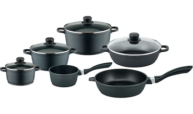 Elo Basic Topf-Set »Black Cast«, Aluminiumguss, (Set, 10 tlg.), Induktion kaufen