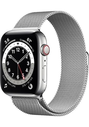 Watch Series 6 GPS + Cellular, Edelstahlgehäuse, 44 mm mit Milanaise Armband, Apple kaufen