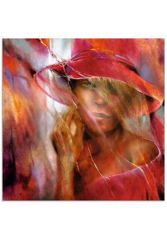 Artland Glasbild »Ella mit Hut« kaufen