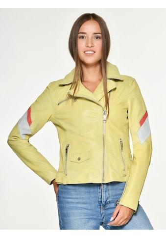 Maze Lederjacke mit Farbkombination kaufen