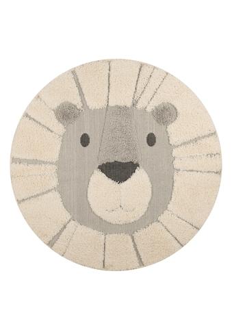 Zala Living Kinderteppich »Lion Lucky«, rund, 22 mm Höhe, Hoch-Tief-Struktur, Spielteppich kaufen