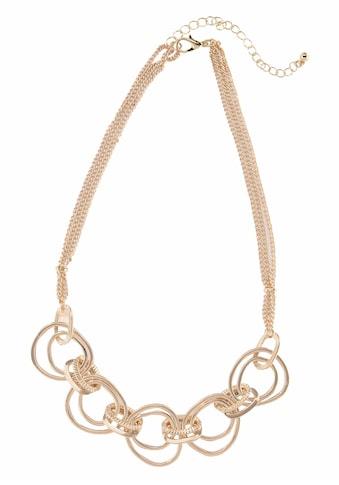J.Jayz Collier »goldfarben mit eingehängter Ringzierde, mehrreihig« kaufen