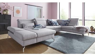 sit&more Wohnlandschaft, Fusshöhe 15 cm, inklusive Sitztiefen-, Armteil- und... kaufen