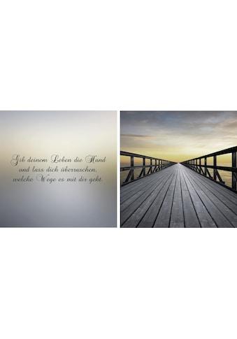 queence Leinwandbild »Weg in die Zukunft«, (Set), 2er-Set kaufen