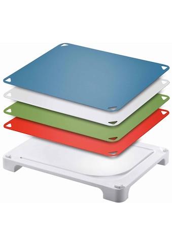 Leifheit Schneidebrett »Vario Board«, (Set, 5 St.), mit 4 wechselbaren Schneideauflagen kaufen