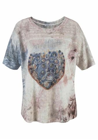 Aniston CASUAL T-Shirt, mit Lochstickerei kaufen